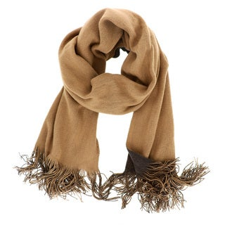 LA77 Long Two-tone Reversible Brown/Tan Scarf