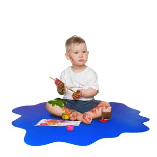 Sploshmat Multi-Purpose Mat for Young Families Highchair and Play Mat Gripper Back for Carpet Flooring