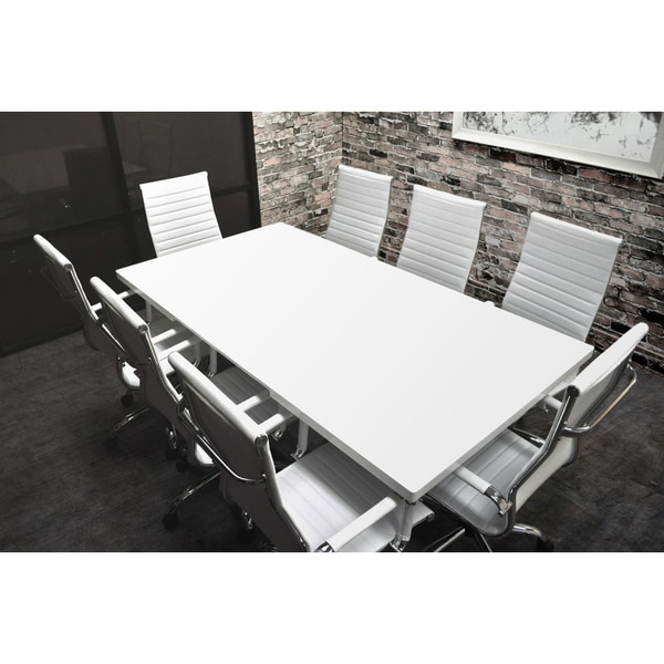 white gray solid wood office. SOLIS Lucidum White Laqcuered Solid Wood Table And Bonded Leather Office  Chairs 9-piece Conference White Gray Solid Wood Office