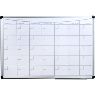 """Viztex Lacquered Steel Mag.Monthly Planner Dry Erase Board 36"""" x 24"""" Aluminium frame"""