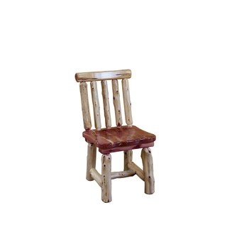 Rustic Red Cedar Log Dining Chair- Spindle Back - Amish