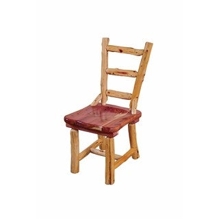 Rustic Red Cedar Log Dining Chair- Ladder Back - Amish