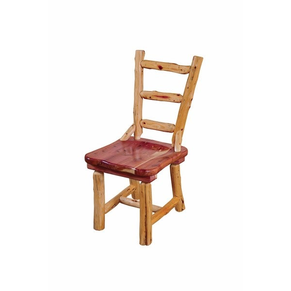 Shop Rustic Red Cedar Log Dining Chair- Ladder Back