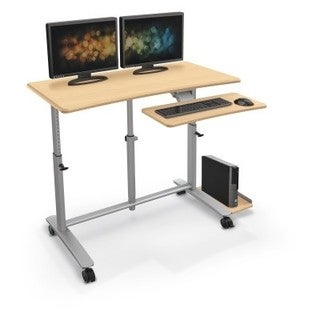 Ergo E. Eazy Sit/Stand Workstation - Pewter