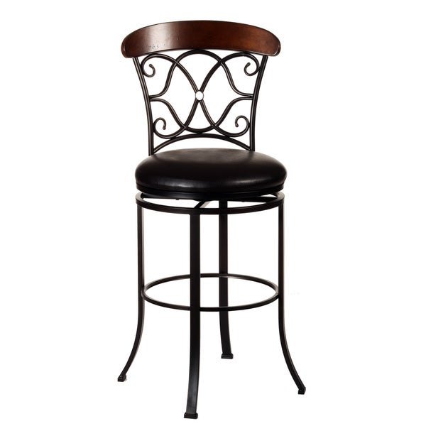 Shop Hillsdale Furniture Dundee Swivel Bar Stool Dark