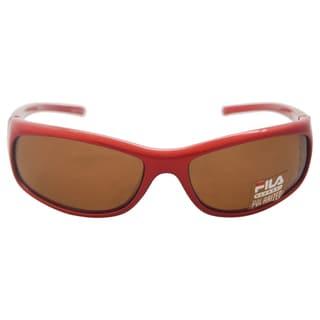 Fila Men's SF 004P C4 - Red Polarized Sunglasses