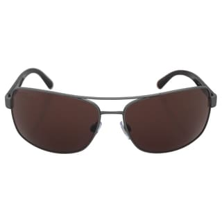 Emporio Armani Men's AR 6011 3003/73 - Matte Gunmetal/Brown Sunglasses