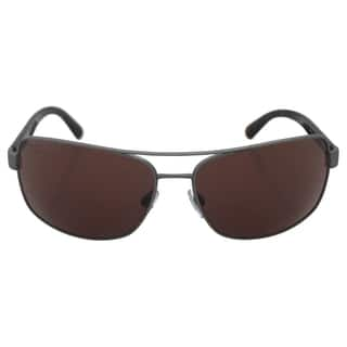 Emporio Armani Men's AR 6011 3003/73 - Matte Gunmetal/Brown Sunglasses|https://ak1.ostkcdn.com/images/products/14065248/P20678153.jpg?impolicy=medium