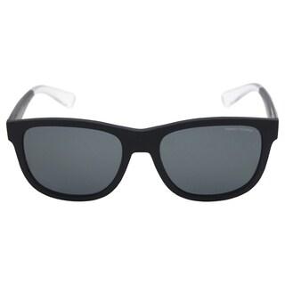 Armani Exchange Men's AX 4054S 807881 - Matte Black Polarized Sunglasses