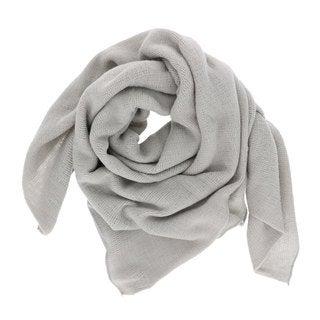 LA77 Solid Tan/Grey/Pink Acrylic Soft Knit Scarf