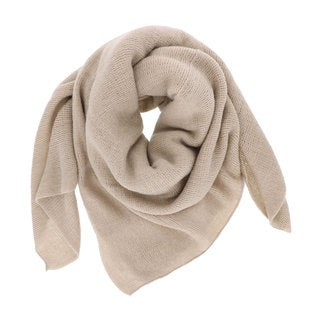LA77 Solid Tan/Grey/Pink Acrylic Soft Knit Scarf