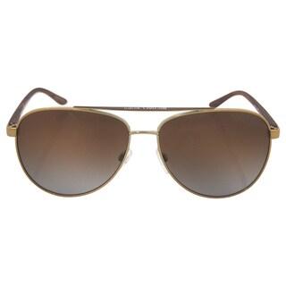 Michael Kors Women's MK 5007 1043T5 Hvar - Gold/Brown Polarized Sunglasses