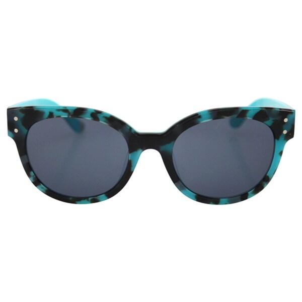 43810d727b1 Shop Juicy Couture Women s JU 581 S 0RVI R6 - Havana Aqua Sunglasses ...
