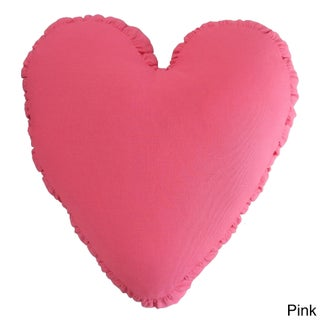 Cotton Heart Pillow With Shirred Side Band (Option: Pink)