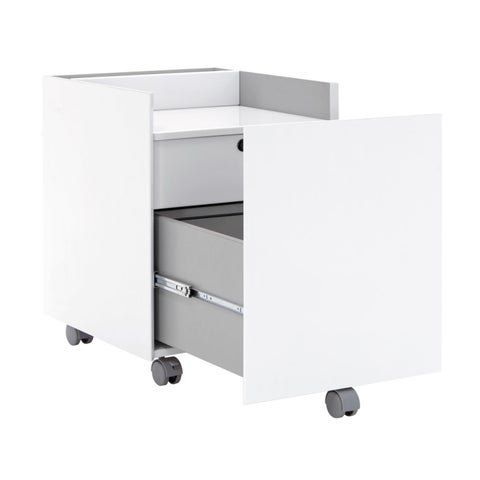 Offex Workstation Mobile Storage Niche Vertical File Cabinet With Drawers