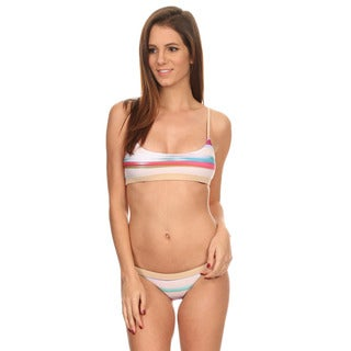 Dippin' Daisy's Multicolored Striped Shoulder Crossback Swimsuit
