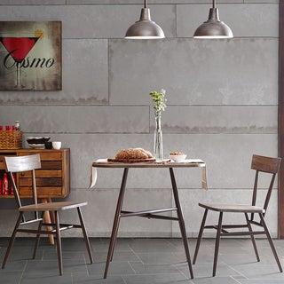 INK+IVY Café Dark Grey/ Bronze Dining Chair (Set of 2)