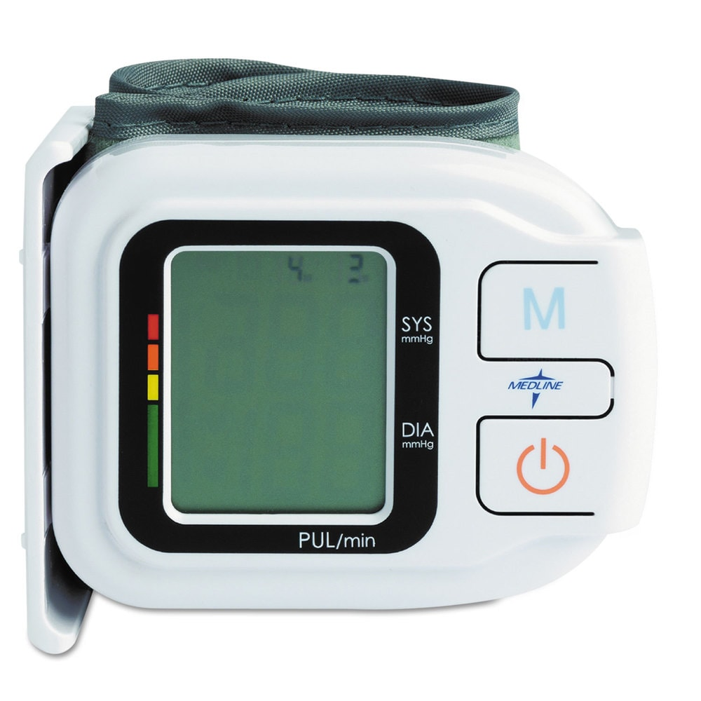 Medline Automatic Digital Wrist Blood Pressure Monitor One Size Fits All (One Size Fits All)