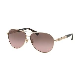 Coach Women's HC7048 920914 - Light Gold/Dark Tortoise Sunglasses
