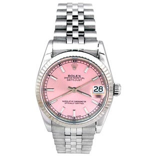 Pre-owned Rolex Midsize Stainless Steel Datejust Watch