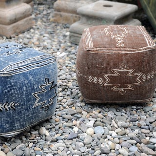 Gamba Fabric Pouf by Christopher Knight Home