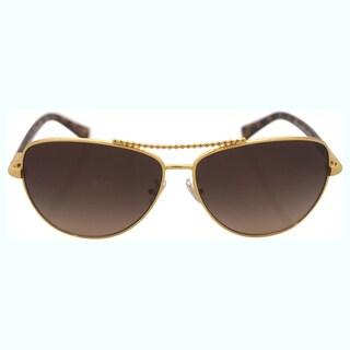 Coach Women's HC7058 923813 - Gold/Dark Tortoise Sunglasses