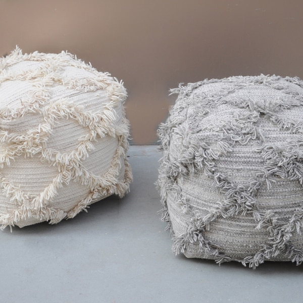 Shop Jucar Fabric Pouf By Christopher Knight Home On