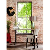 INK+IVY Delano Barn Grey Counter Dining Table with Drop Leaf