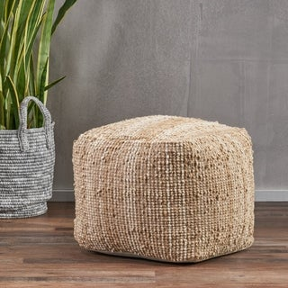 Beverly Fabric Pouf by Christopher Knight Home