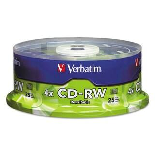 Verbatim CD-RW Discs 700MB/80min 4X Spindle Matte Silver 25/Pack