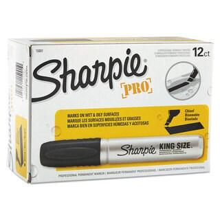 Sharpie King Size Permanent Marker Chisel Tip Black Dozen