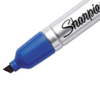 Sharpie King Size Permanent Marker Chisel Tip Blue Dozen