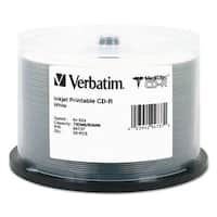 Verbatim MediDisc CD-R 700MB 52X White Inkjet with Branded Hub 50/Pack Spindle