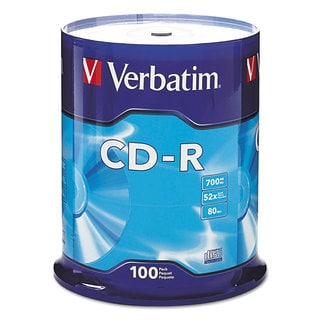Verbatim CD-R Discs 700MB/80min 52x Spindle Silver 100/Pack