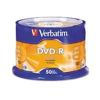 Verbatim DVD-R Discs 4.7GB 16x Spindle Silver 50/Pack