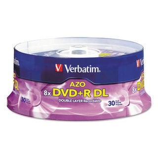 Verbatim Dual-Layer DVDR Discs 8.5GB 8x Spindle 30/Pack Silver