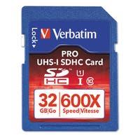 Verbatim Pro 600X SDHC Memory Card Class 10 UHS-1 32GB