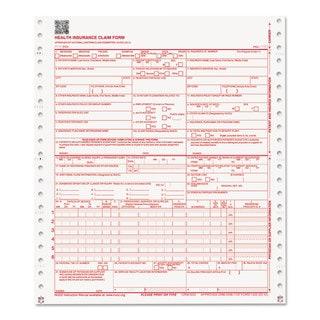 Paris Business Products CMS Forms 2 Part Continuous White/White 9 1/2 x 11 1000 Forms