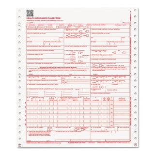 Paris Business Products CMS Forms 1 Part Continuous White 9 1/2 x 11 2500 Forms