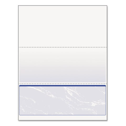 DocuGard Standard Security Check Blue Marble Bottom 24 -pound Letter 500/Ream