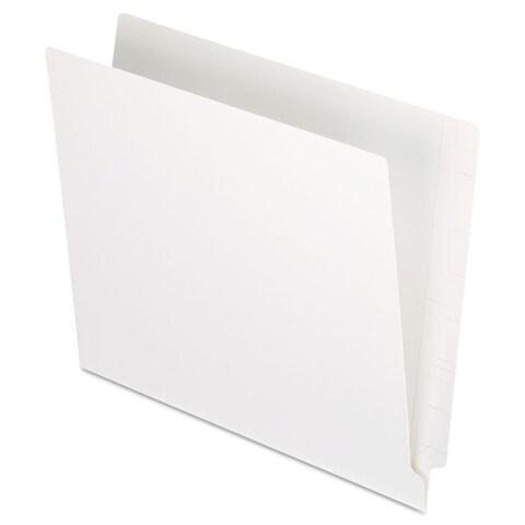 Pendaflex Reinforced End Tab Folders Two Ply Tab Letter White 100/Box