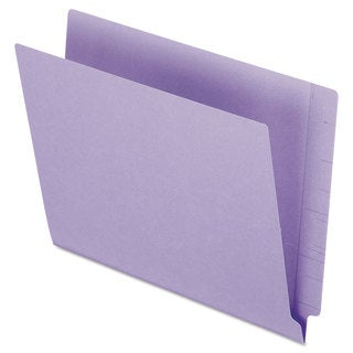 Pendaflex Reinforced End Tab Folders Two Ply Tab Letter Purple 100/Box