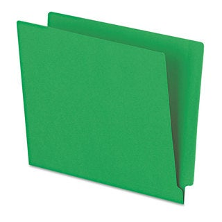 Pendaflex Reinforced End Tab Folders Two Ply Tab Letter Green 100/Box