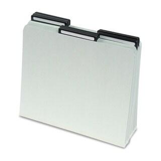 Smead One Inch Expansion Metal Tab Folder 1/3 Tab Letter Grey Green 25/Box