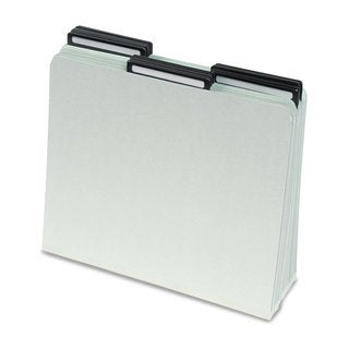 Smead One Inch Expansion Metal Tab Folder 1/3 Tab Letter Grey Green 25/Box