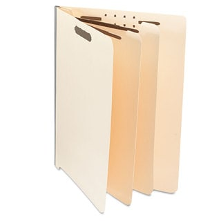 Universal Manila End Tab Folders with Full Cut Letter Six-Section 10/Box