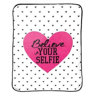 """Limited Too """"Believe In Your Selfie Silk"""" Touch Throw
