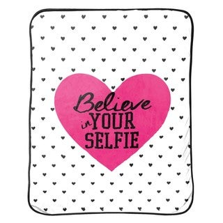 "Limited Too ""Believe In Your Selfie Silk"" Touch Throw"
