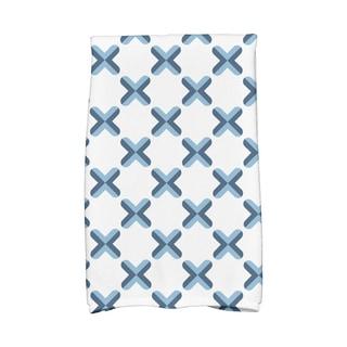 16 x 25-inch, Criss Cross Geometric Print Hand Towel