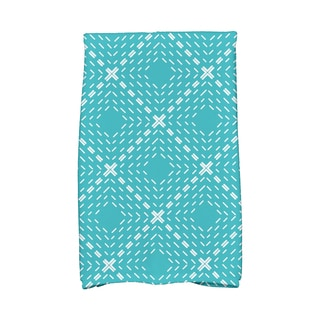 16 x 25-inch, Dots and Dashes Geometric Print Hand Towel